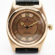 Rolex Bubble Back Rose gold 31mm Pink Arabic numerals United States of America, New York, New York