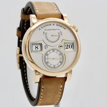 朗格 Zeitwerk 玫瑰金 42mm 銀色 阿拉伯數字