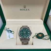 Rolex Oyster Perpetual Steel 41mm Green No numerals Singapore, Singapore