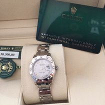 Rolex Silver Automatic White Roman numerals 29mm new Lady-Datejust Pearlmaster