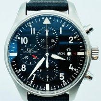 IWC Pilot Chronograph Acier 43mm Noir Arabes France, Paris