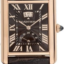 Cartier Tank Louis Cartier pre-owned 39mm Brown Date Leather