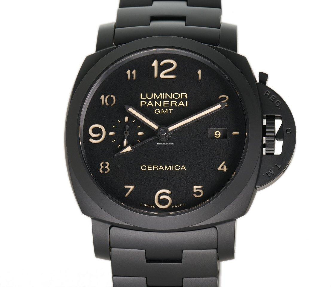 Panerai Luminor 1950 3 Days GMT Automatic PAM 00438 Tuttonero 2015 new