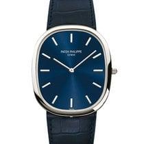 Patek Philippe Platinum Automatic Blue No numerals 34.5mm pre-owned Golden Ellipse