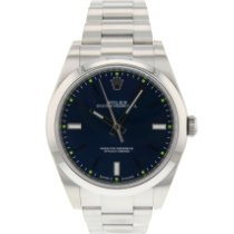 Rolex Oyster Perpetual 39 Staal 39mm Blauw