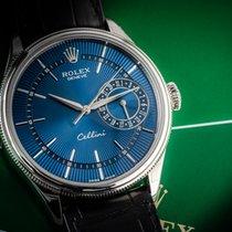 Rolex Cellini Date White gold 39mm Blue No numerals