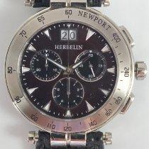 Michel Herbelin Steel Quartz Brown No numerals 42mm pre-owned Newport Yacht Club
