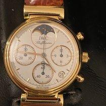 IWC Желтое золото Кварцевые Белый Без цифр 29mm подержанные Da Vinci Chronograph