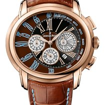 Audemars Piguet Millenary Chronograph Or rose 47mm Brun
