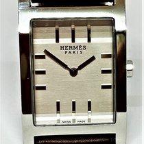 Hermès Tandem Steel 38mm Silver