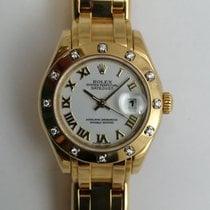 Rolex Lady-Datejust Pearlmaster Ouro amarelo 29mm Branco Romanos Portugal, Lisboa