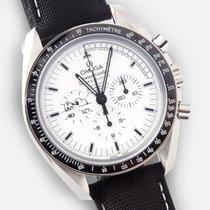 Omega Speedmaster Professional Moonwatch tweedehands 42mm Wit Chronograaf Textiel