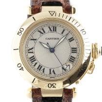 Cartier Pasha C usato 35.5mm Argento Data Pelle