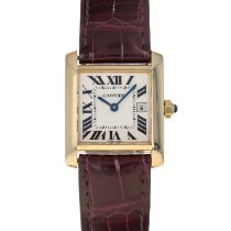 Cartier Tank Française Yellow gold 25mm Silver Roman numerals United States of America, Maryland, Baltimore, MD