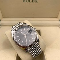 Rolex Datejust pre-owned 41mm Grey Date Steel