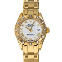 Rolex Lady-Datejust Pearlmaster Yellow gold 29mm White Roman numerals United States of America, Maryland, Baltimore, MD