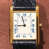 Cartier Tank Vermeil Silver 23mm Gold Roman numerals