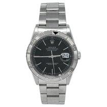 Rolex Datejust Turn-O-Graph Сталь 36mm Черный Без цифр