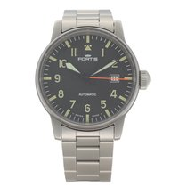 Fortis pre-owned Automatic 40mm Black Sapphire crystal 20 ATM