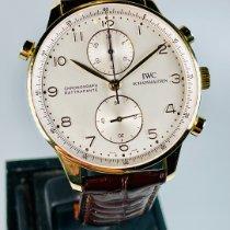 IWC Portuguese Chronograph Žluté zlato 41mm Stříbrná Arabské