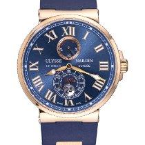 Ulysse Nardin Marine Chronometer 43mm Pозовое золото 43mm Синий Римские