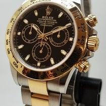 Rolex Daytona Zlato/Zeljezo 40mm Crn Bez brojeva
