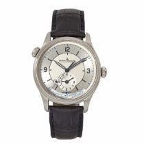 Jaeger-LeCoultre Master Geographic pre-owned 39mm Silver Year GMT Leather