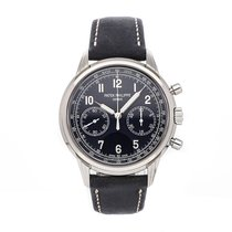 Patek Philippe Chronograph pre-owned 41mm Blue Chronograph Leather