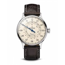 Meistersinger Pangaea Day Date Steel 40mm Champagne Arabic numerals