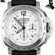 Panerai Luminor Chrono Steel 44mm White Arabic numerals United States of America, New York, Smithtown