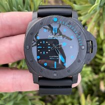 Panerai Carbon Automatic Black 47mm pre-owned Luminor GMT Automatic