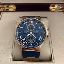 Ulysse Nardin Marine Chronometer Manufacture Rose gold 43mm Blue Roman numerals United States of America, North Carolina, Summerfield
