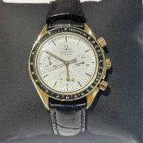Omega Yellow gold Automatic White No numerals 39mm pre-owned Speedmaster Reduced