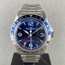 Bell & Ross BR V2 tweedehands 41mm Blauw Datum GMT Staal