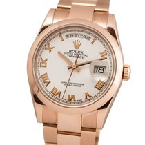 Rolex Red gold Automatic White Roman numerals 36mm pre-owned Day-Date 36