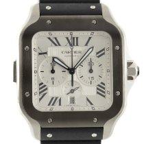 Cartier Santos (submodel) neu 2021 Automatik Chronograph Uhr mit Original-Papieren WSSA0017