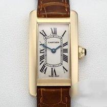 Cartier Tank Américaine Gelbgold 19mm Silber Römisch