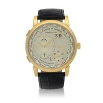 A. Lange & Söhne Yellow gold Manual winding Silver 42mm Lange 1