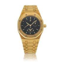 Audemars Piguet Royal Oak Dual Time Aur galben 36mm Negru