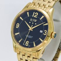RSW new Automatic Central seconds Screw-Down Crown PVD/DLC coating 42mm Steel Sapphire crystal