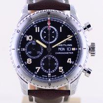 Breitling Aviator 8 Сталь 43mm Черный Aрабские