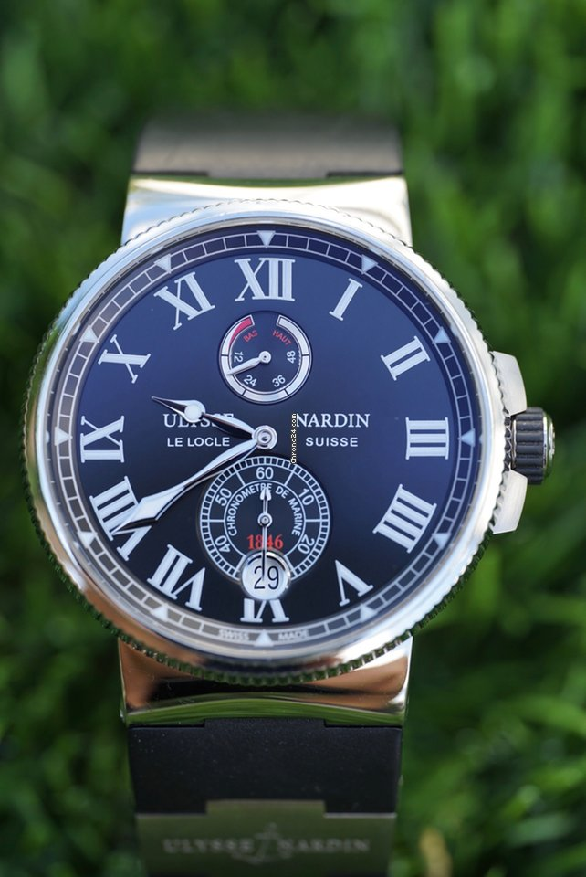 Ulysse Nardin Marine Chronometer Manufacture 1183-122-3/42 V2 2016 pre-owned