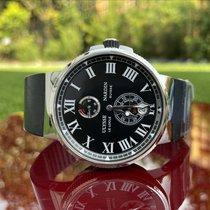 Ulysse Nardin Marine Chronometer Manufacture occasion 45mm Noir Chronographe Caoutchouc