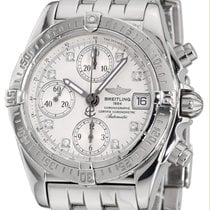 Breitling Chrono Cockpit Steel 39mm Silver No numerals United States of America, New York, Greenvale