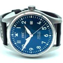 IWC Fliegeruhr Mark Stahl 40mm Blau Arabisch Deutschland, Schramberg