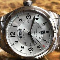 Hamilton Khaki Field Day Date Steel 42mm Silver Arabic numerals United States of America, Pennsylvania, Philadelphia