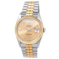 Rolex Day-Date 36 White gold 36mm Champagne