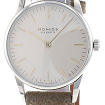 NOMOS Orion 33 pre-owned 32.8mm White Leather
