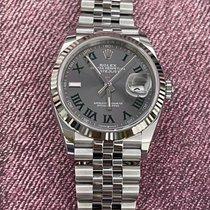 Rolex Datejust Gold/Steel 36mm Grey Roman numerals