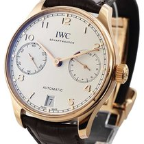 IWC Automatic Silver 42.3mm pre-owned Portuguese Automatic